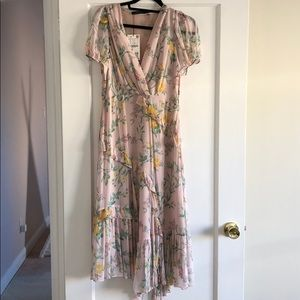 NWT Zara floral pink maxi dress